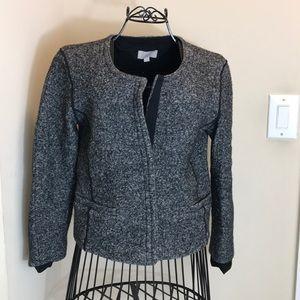 Ann Taylor Loft Gray 2-Snap Button Blazer Size 8